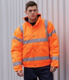 PW021 Portwest Hi-Vis Bomber Jacket GO/RT
